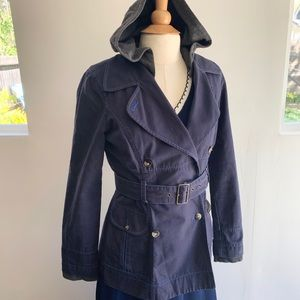 Free People Navy Jacket with Hood